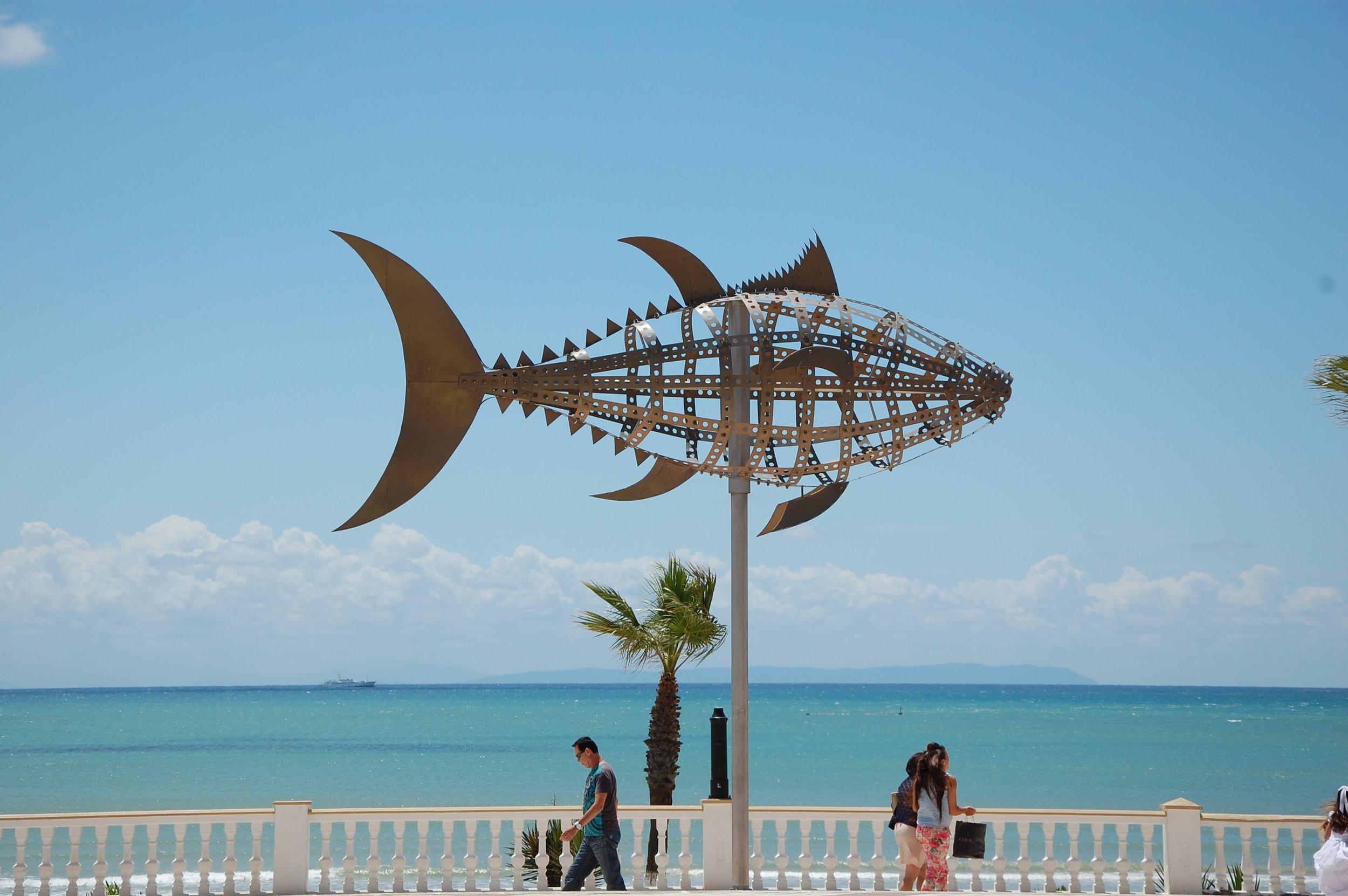 Tuna sculpture, Barbate