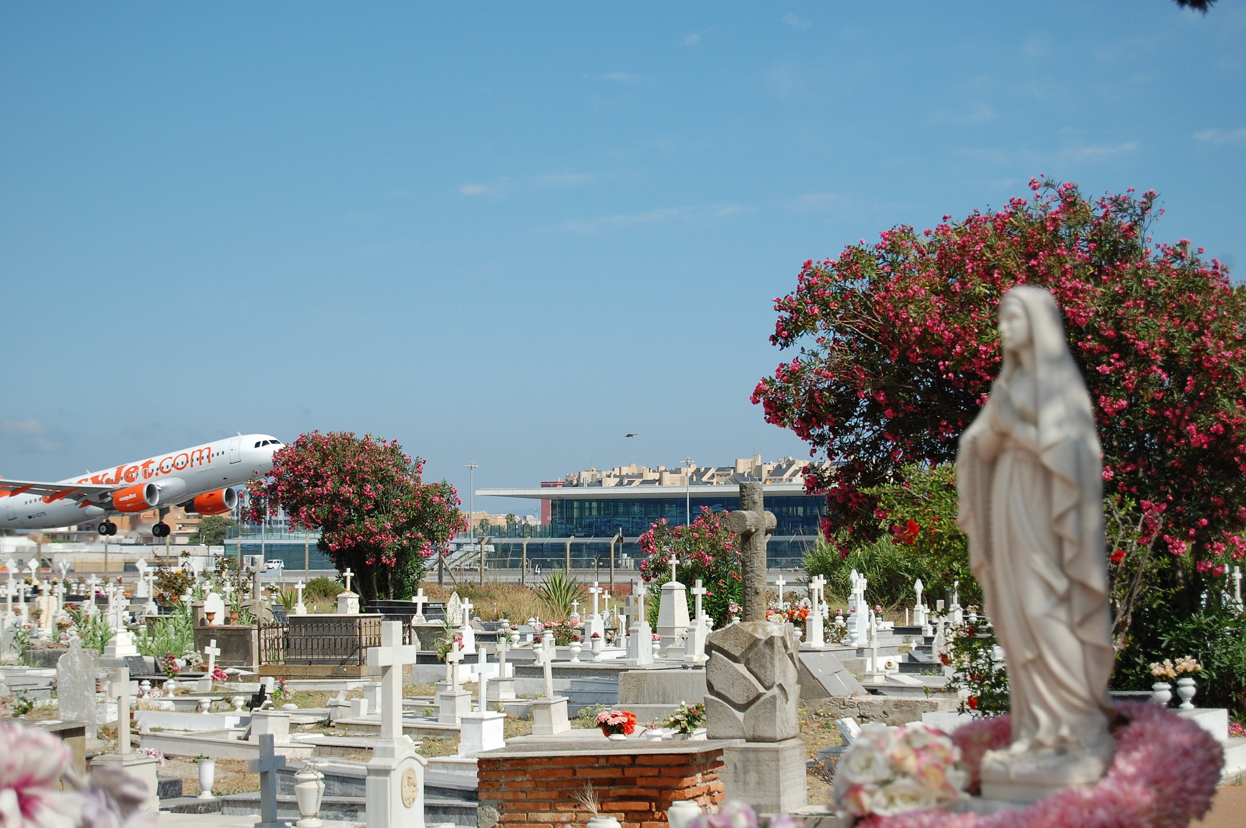 Gibraltar's airport-side cemetery
