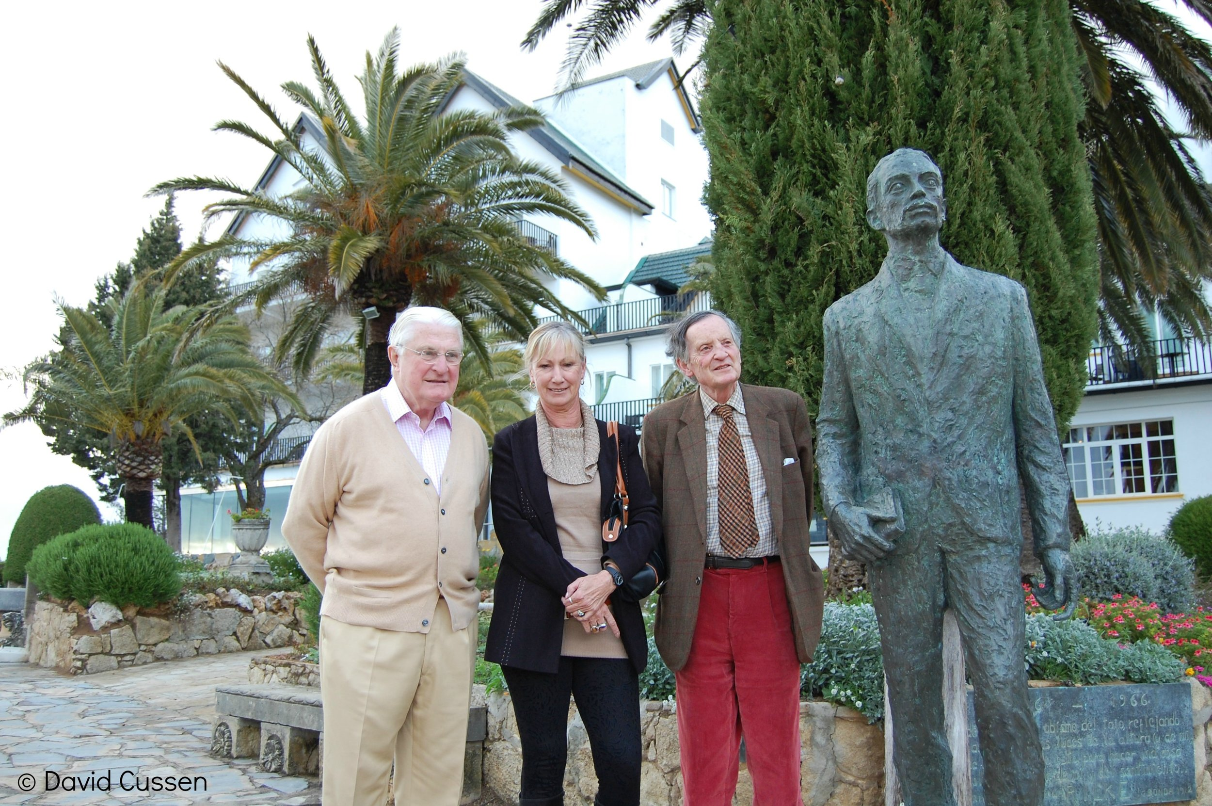 Mr Henderson's Great Grandson - The author with the present Baron Faringdon (left) and Lord Marlesford of Suffolk at the Reina Victoria Hotel in Ronda. The silent chap on the right is the poet Rilke.
