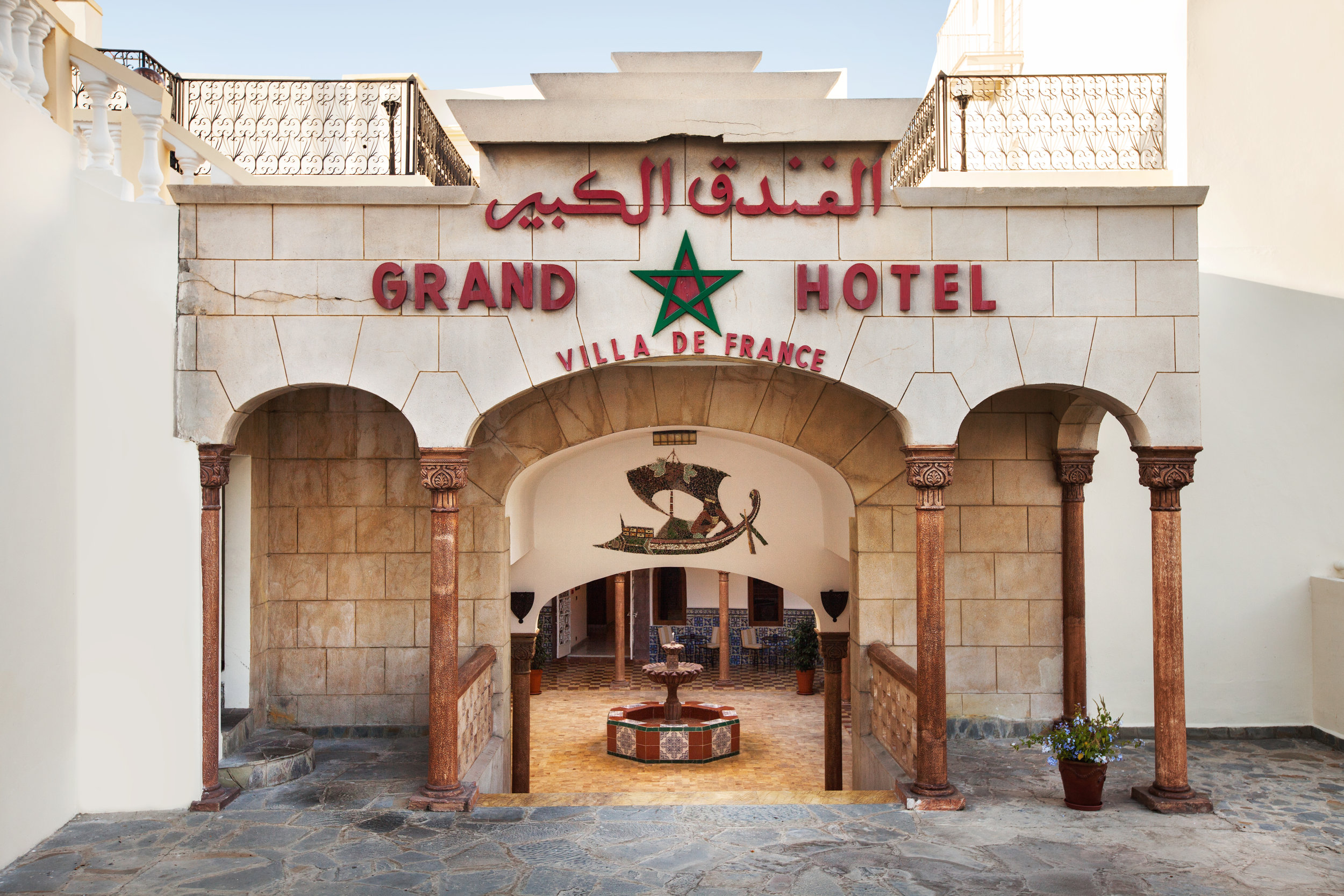 ... and the hotel's preserved original entrance