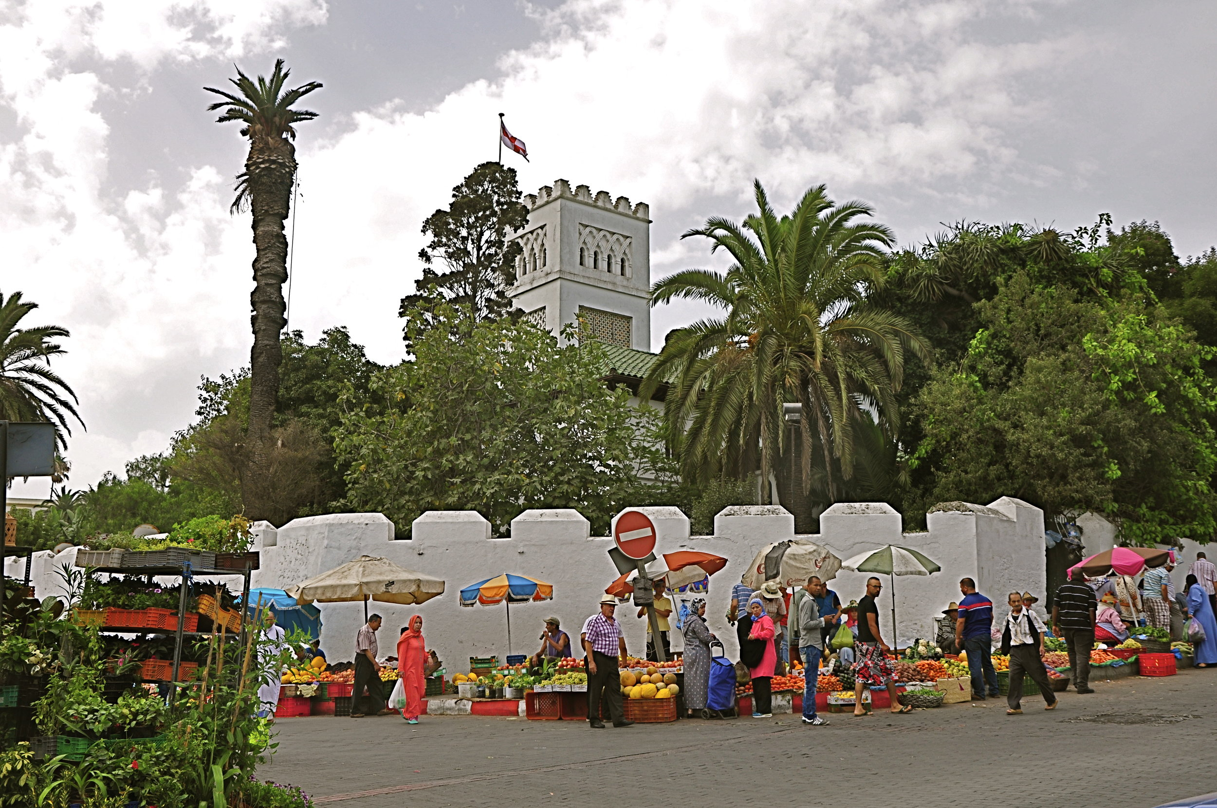 Berber market, English church