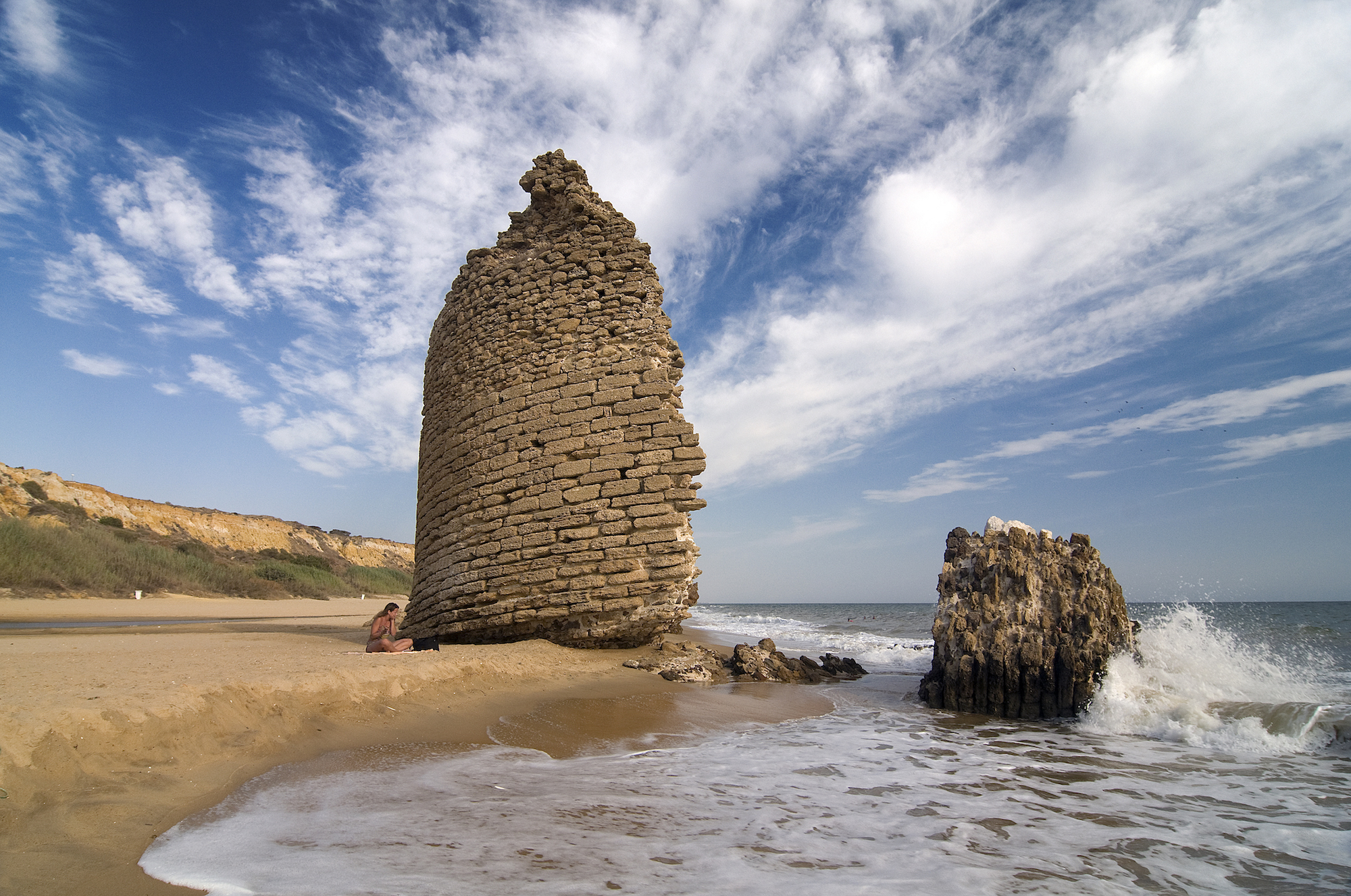Parrot Tower Beach - Built to ward off pirates (not parrots but maybe the pirates owned some), the tower straddles the borders of four towns, allowing Palos de la Frontera, Moguer, Lucena del Puerto and Almonte to claim it as their own.