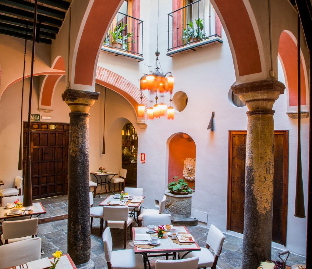Stylish Stay - Hiding in a restored 17th century building in the narrow streets of Tarifa's old quarter, stylish Posada La Sacristía's cool courtyard milks the Moroccan vibe.