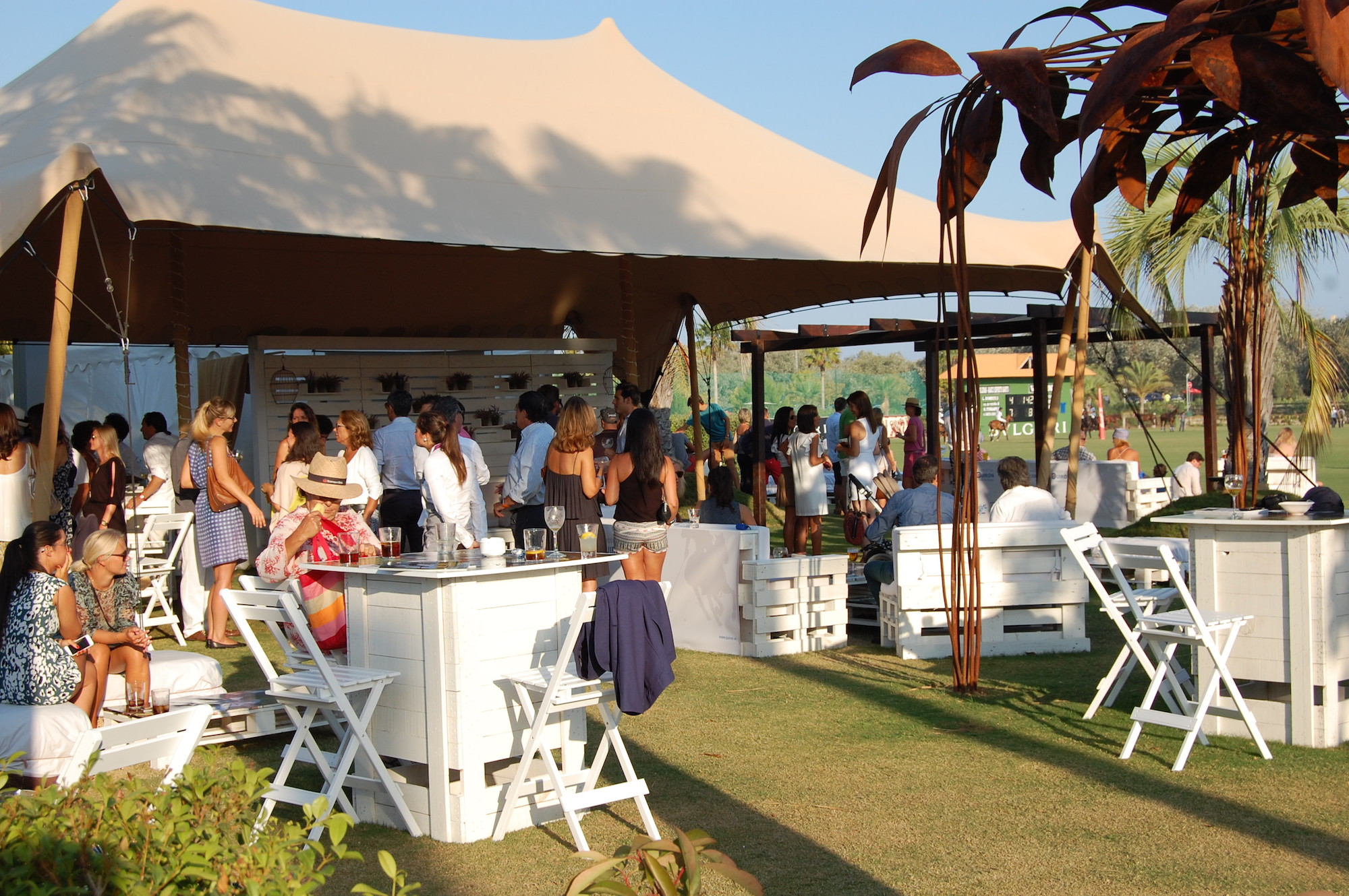 Pitchside dining at Santa Maria Polo Club's International Tournament