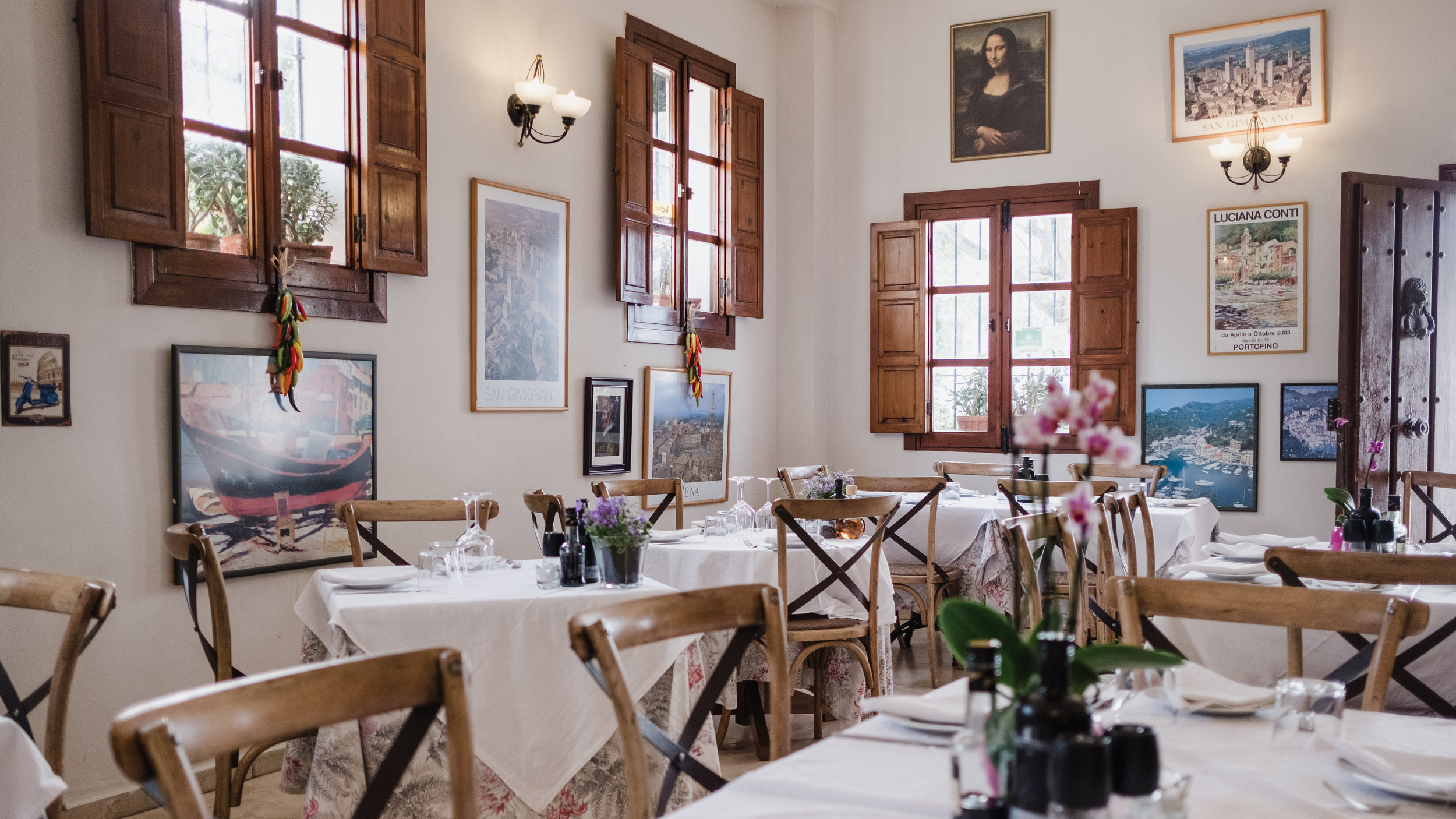 Trattoria-style - A charming little Italian place