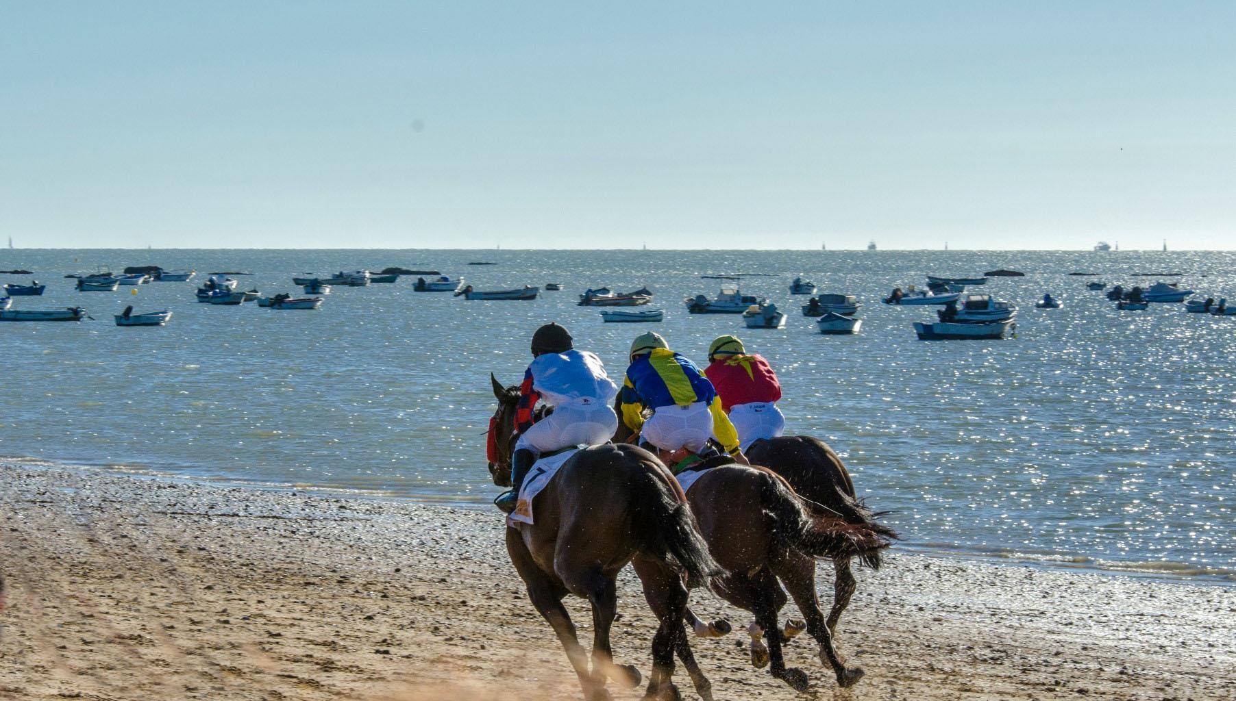 Beach horse racing Sanlucar de Barrameda