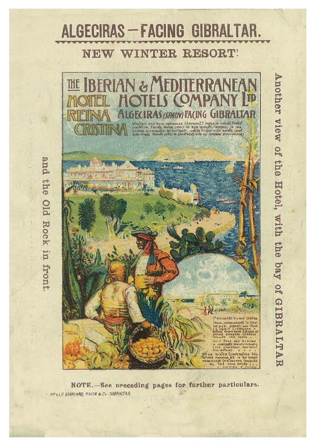 1906 poster advertising ' The New Winter Resort ' in Algeciras