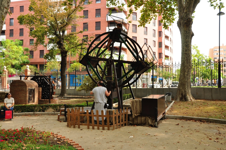 Retro ferris wheel