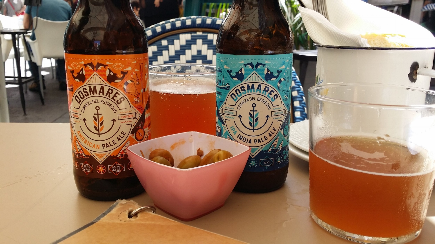 Dos Mares, brewed in Tarifa, is the only beer to drink in the Strait. Get it at Restaurant El Querido