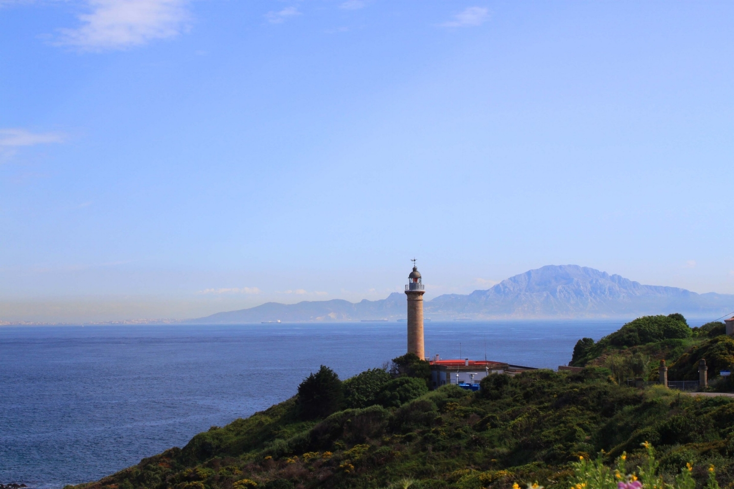 The Strait of Gibraltar view that inspired Paco de Lucia's  Punta del Faro  IMAGE  Falconaumanni  -  CC BY-SA 3.0