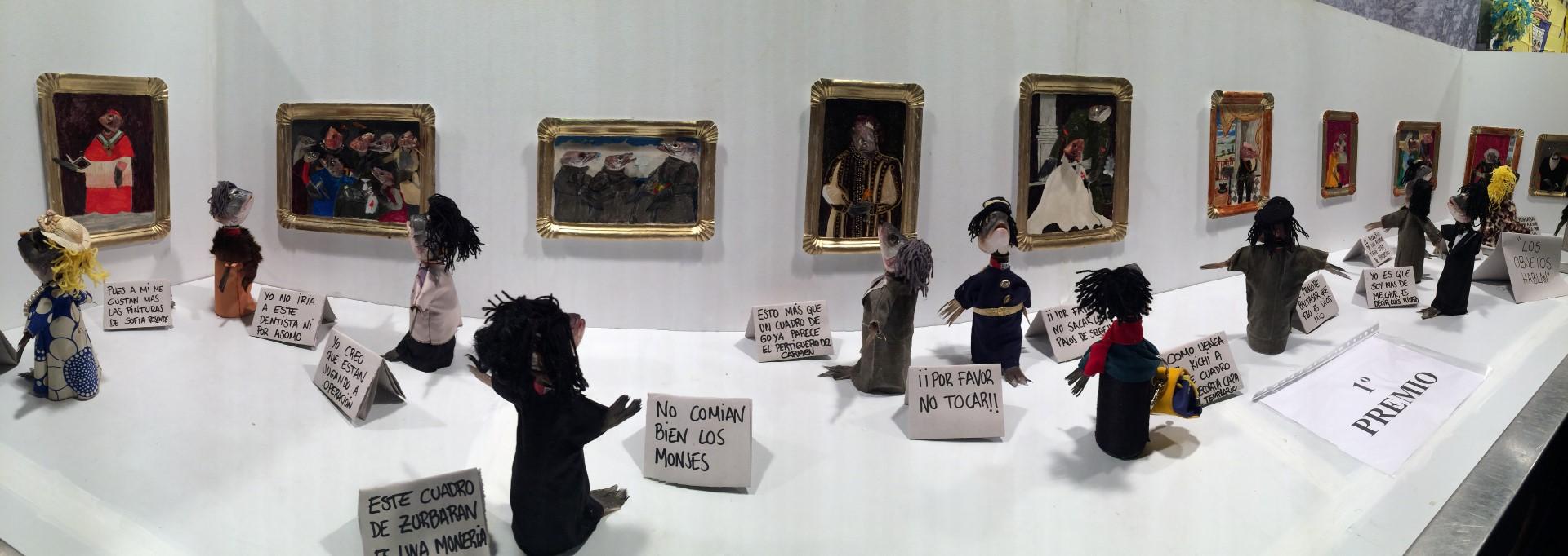 Puppets with fish heads in a miniature art gallery setting. IMAGE: David Ibáñez Montañez, Turismo Cadiz