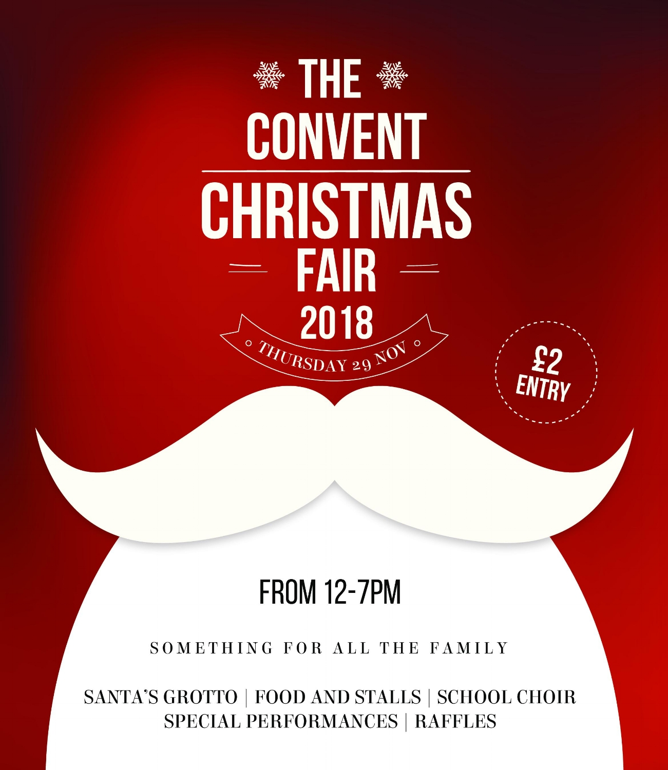 Governor's Residence, 12.00-19.00 - Stacks of stalls selling festive goodies. Tickets, £2. Information from The Convent reception.