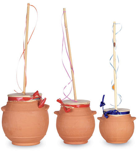Flowerpot Music - The low grating sound you get when you chafe the stick in your hands gave the zambomba friction drum its name and it was inspired by a flower pot!