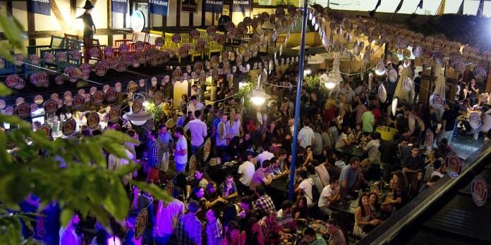 Zambomba in the Square - Zambombas are part of the yuletide fun at Plaza Canterbury open air leisure centre.