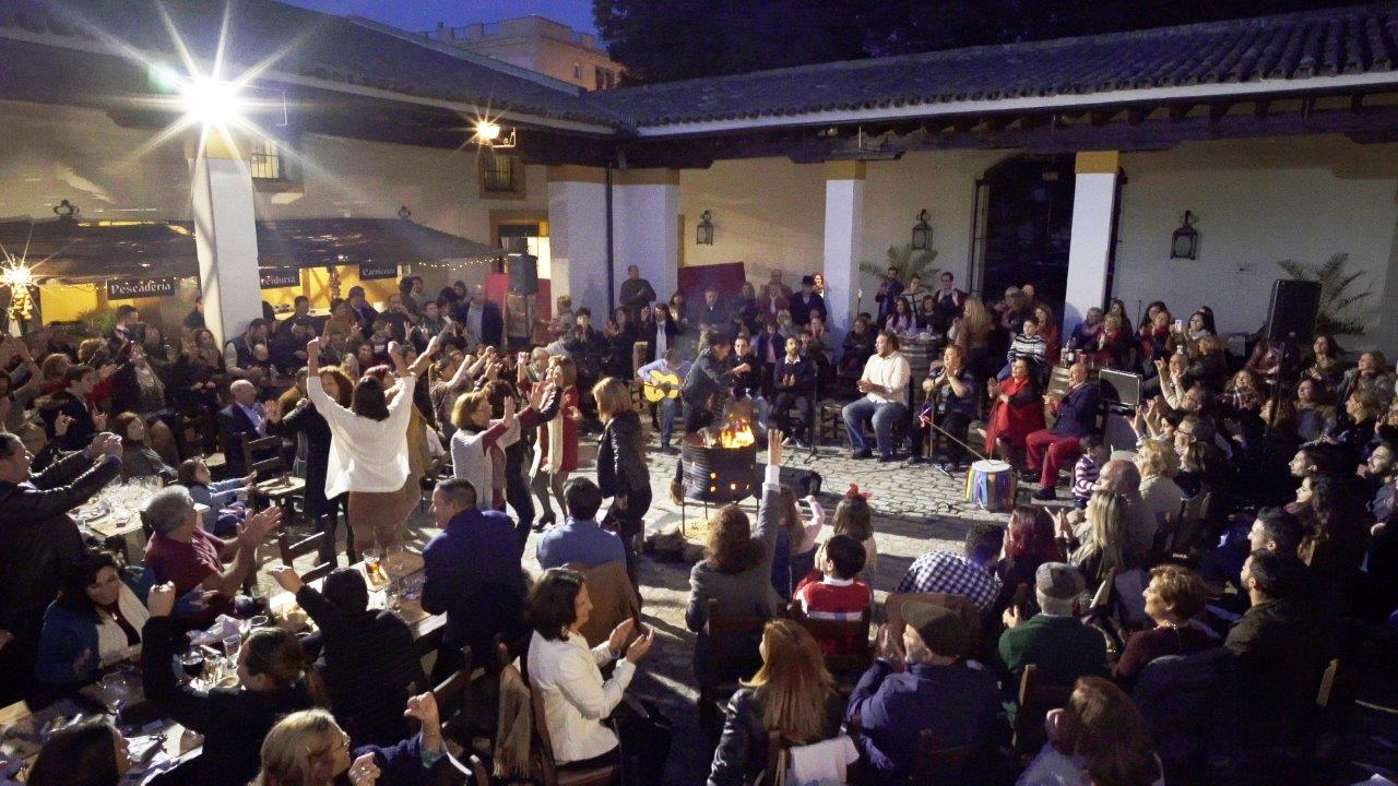 Zambomba in the Patio - The garden courtyard at the Atalaya Museums in Jerez is a wonderful spot for a sing-song. IMAGE Salvador Monge