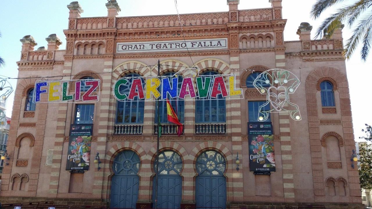 The beautiful Gran Teatro Falla hosts the carnival song contest