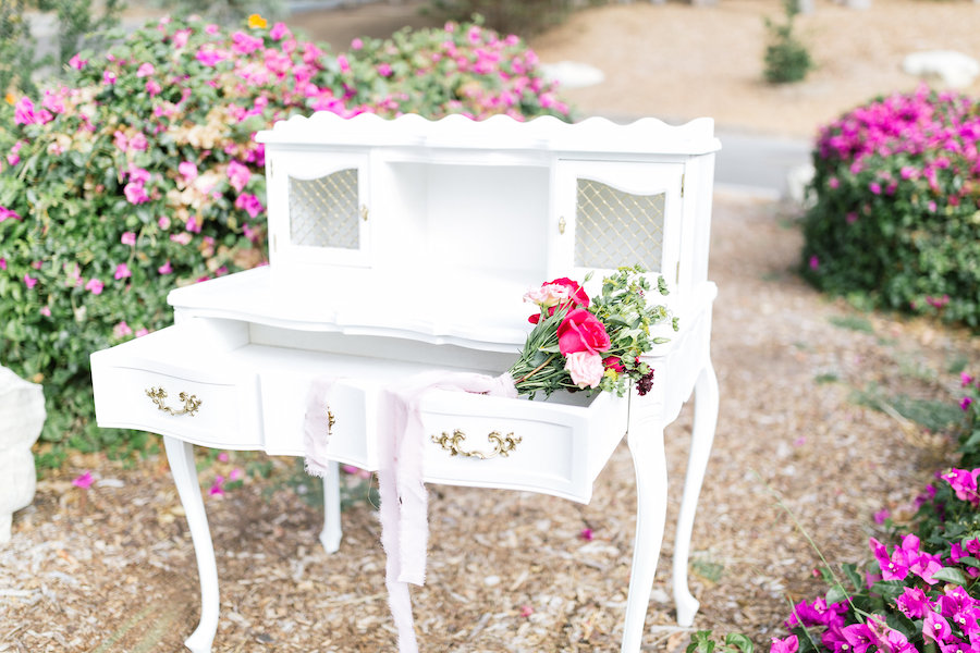 Colette French Writing Desk Available at Provenance Rentals