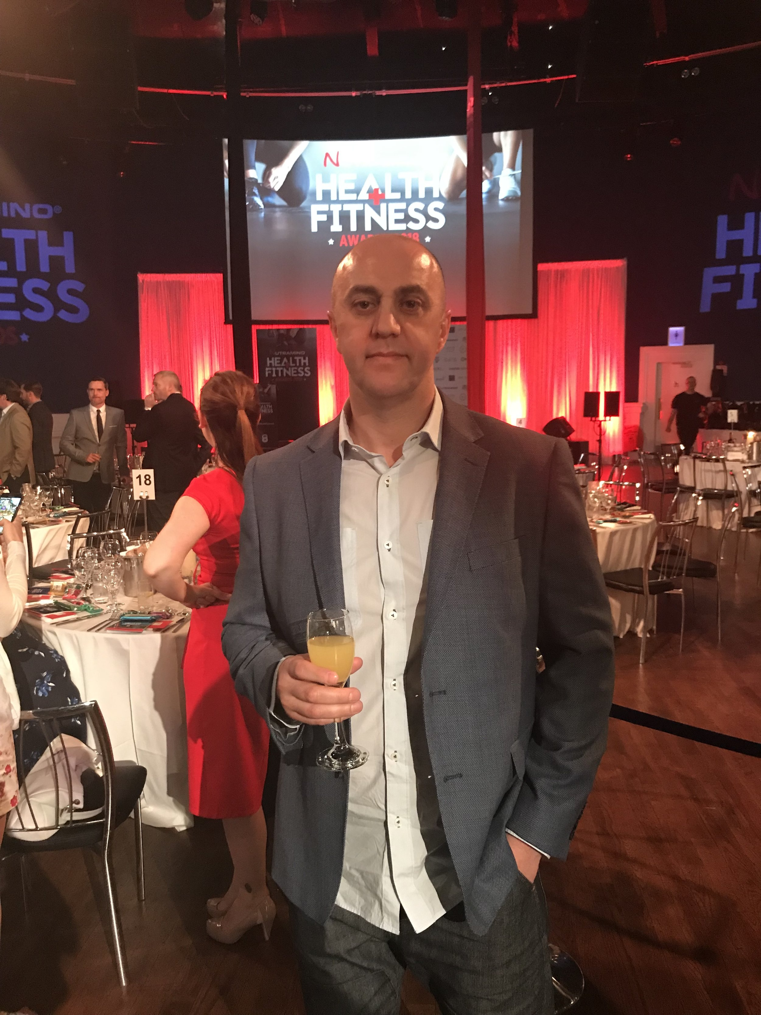 alan dunne at the nutramino health and fitness awards 2018