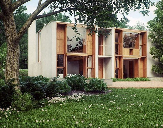 If you're in the Philadelphia area you should be tempted to slow roll around this cul de sac to get a glimpse of Louis Kahn and Wharton eshericks dream boat, built in 1961