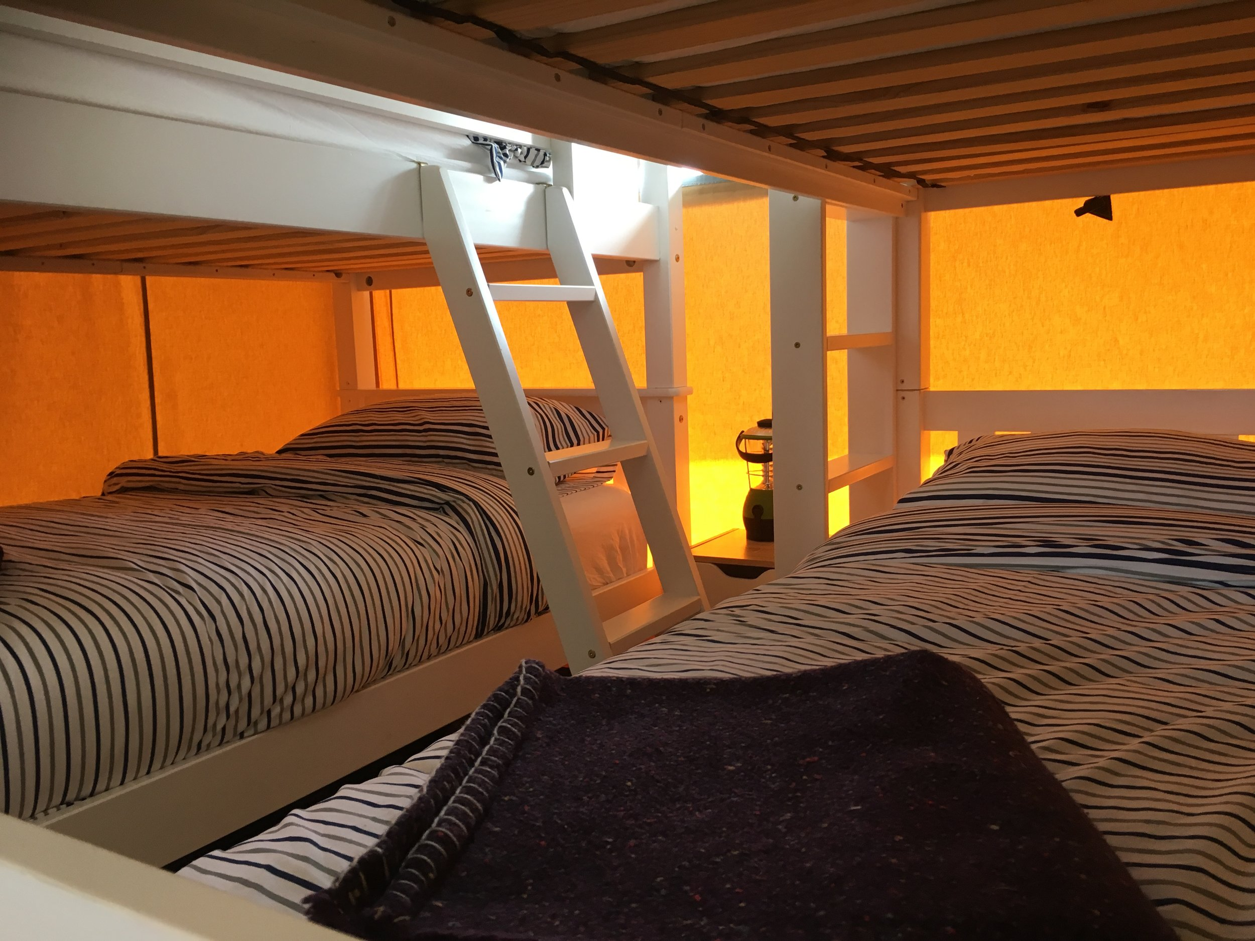 The Bunk room.  Sleeps four, bunks are sturdy for adult use although they can be seperated if twin beds are prefered.