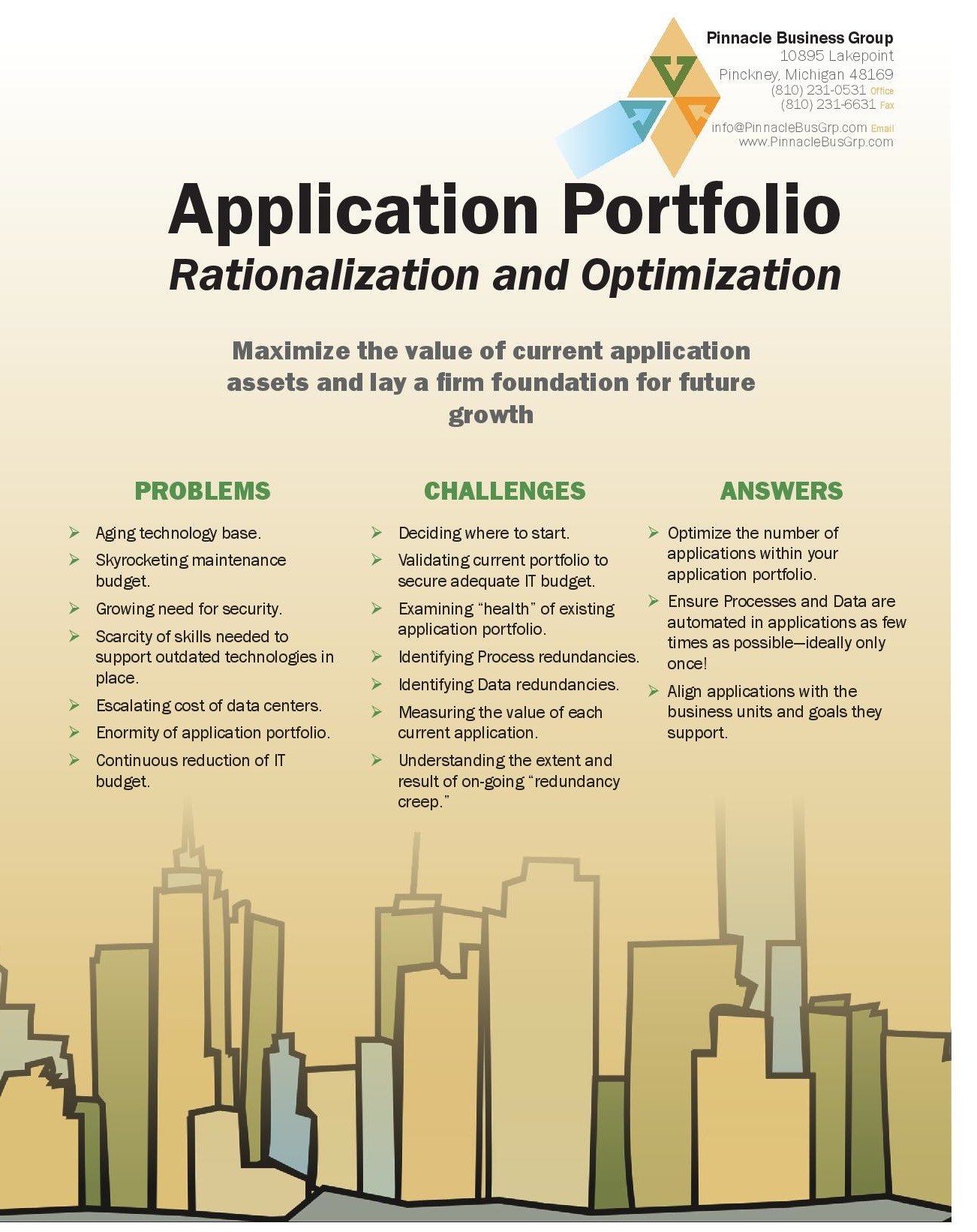 View our Application Portfolio Rationalization & Optimization Brochure