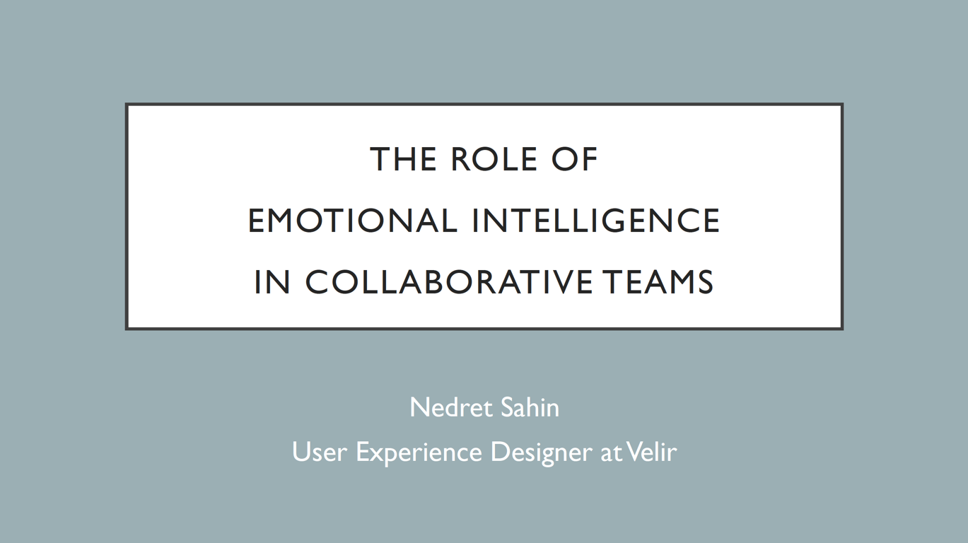 She Geeks Out Presentation: The Role of Emotional Intelligence on Collaborative Teams - This is a presentation I gave at the She Geeks Out networking event in October of 2016, about the role of emotional intelligence on collaborative teams. I've always been a psychology nerd, so this was one of the most exciting topics I've spoken about.Here's the transcript of the talk.