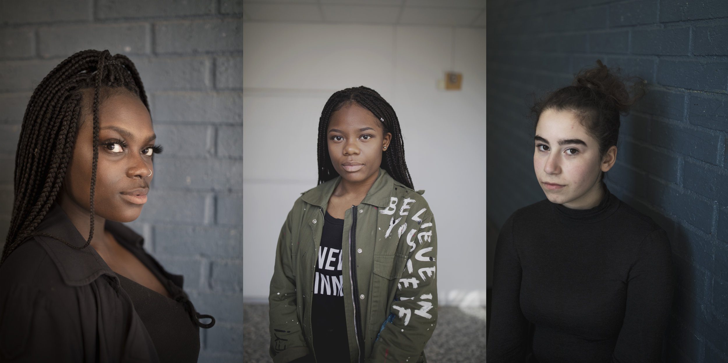 Rohiatou, Benie och Elina går alla tre sista året på Broskolan