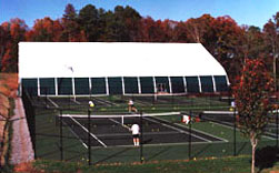 Baseline Sports Construction was a winner of a Tennis Industry Magazine's 1999 Court of the Year Award. The Bagwell Tennis Center located at Webb School in Knoxville, TN features an indoor tennis facility. The four indoor courts are covered by a fabric frame building which offers indirect lighting, gable ends that open for natural ventilation, and an excellent year around playing environment. The Bagwell Tennis Center was also the recipient of an Outstanding Tennis Facility Award from the U.S.T.C. & T.B.A. for 1999. -