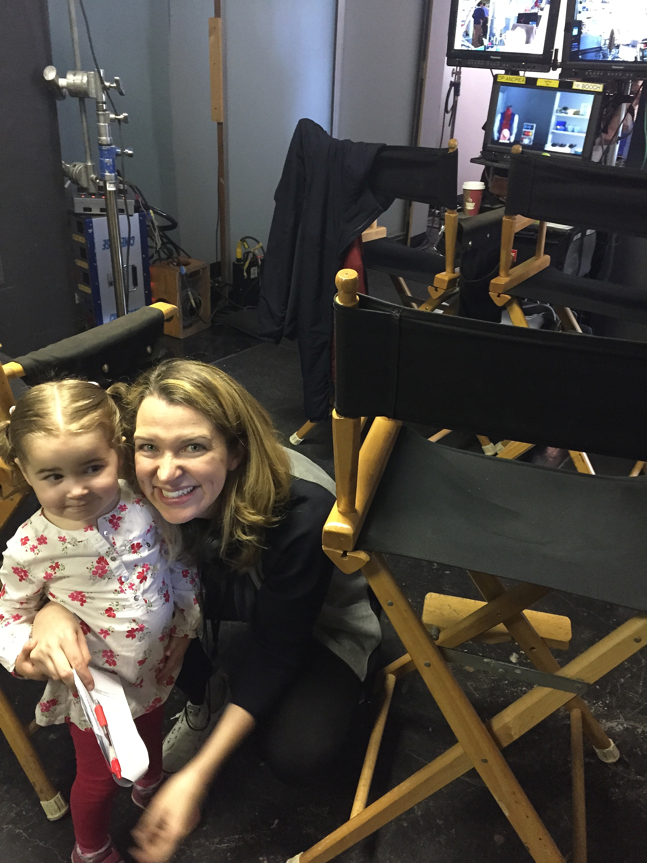 Lindsey and Her Daughter on Set