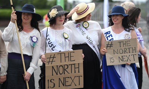 "Centennial Celebration: 100 Years of Women's Suffrage in the United Kingdom  - On June 10th, 2018, more than 100,000 people took to the streets of England, Scotland, Wales, and Northern Ireland to celebrate 100 years of female suffrage in the United Kingdom. The celebrations consisted of cheering, singing, marching, and chanting to commemorate women obtaining the right to vote in 1918 that recalled the mass marches and demonstrations of the suffragettes. Even though those at the events were celebrating 100 years of women's suffrage, they still admit: ""the next step is recognising the equality and the decency of all human beings."""