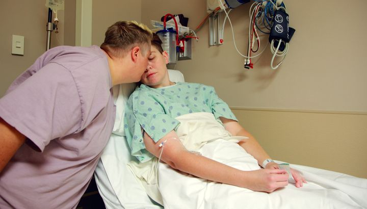 Photo Courtesy of  HuffPost    Queer couples face a lack of support and understanding from health care providers when fighting cancer.