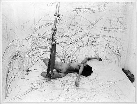 Credit: Carolee Schneeman,   Up to and Including Her Limits    (1973-1977)