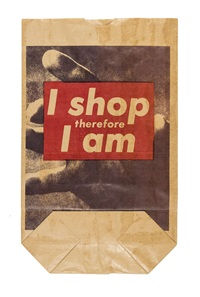Credit: Barbara Krueger,  I Shop Therefore I Am  (1990)