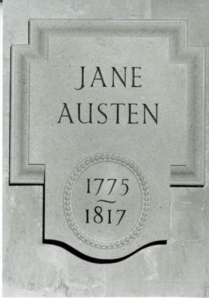 Photo Courtesy of  Westminster Abbey  | Jane's plaque close up.