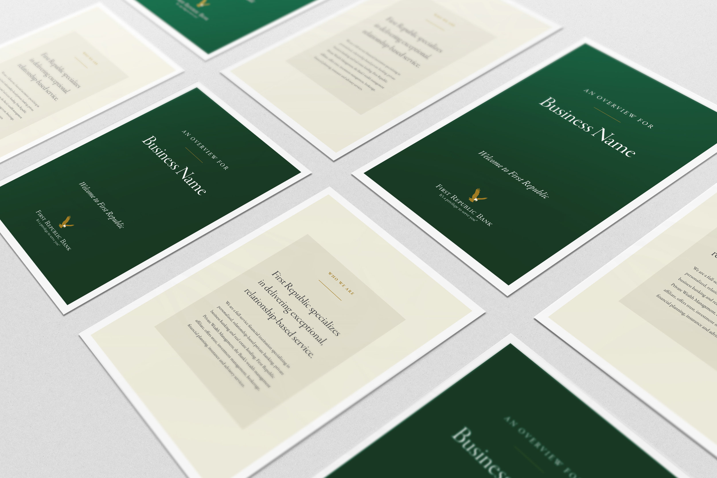 FIRST REPUBLIC: PRINT COLLATERAL