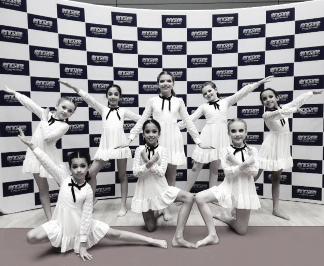 Dance Force United C&P Team  - Encore regionals UK, Annual Event, 2019. 1st place winners of the 12&Under Contemporary Category.