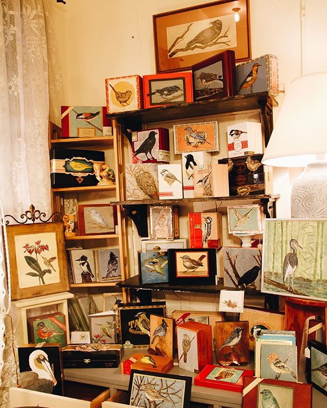 My bird boxes, paintings, and garden art can be found at multiple stores in the Silverton/Salem area. This beautiful display of my work is located at Finds That Shine - 204 N. Water St, SIlverton, OR. Head to my website for other locations carrying my art!