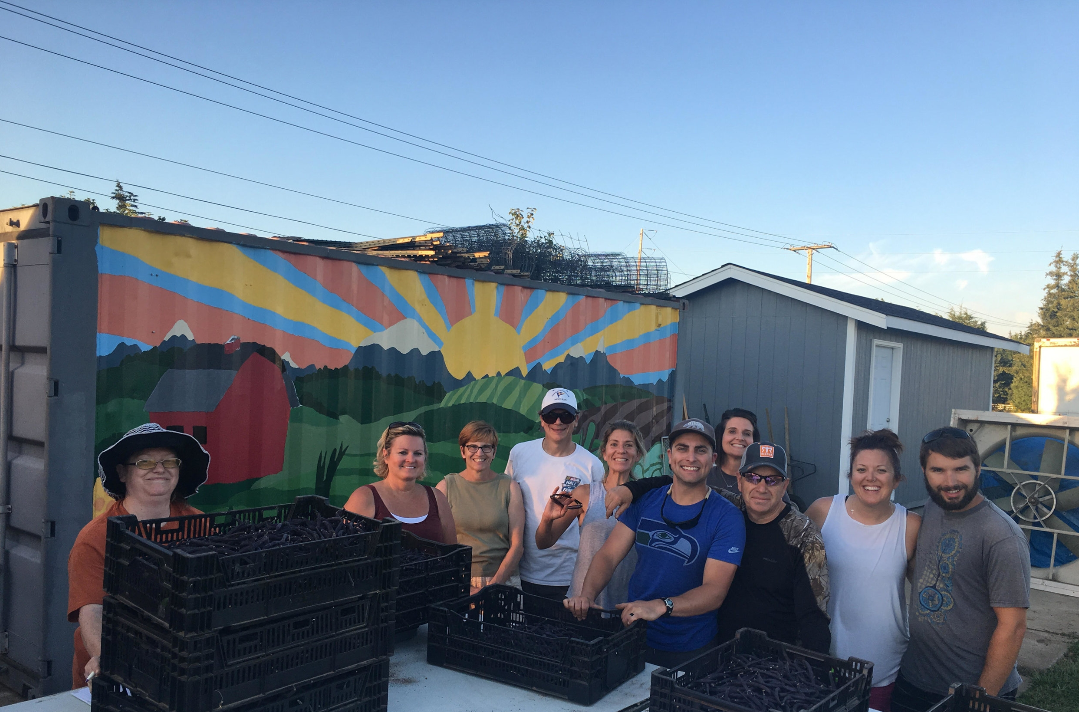 17 small groups volunteered over 350 hours out at the CTK Farm