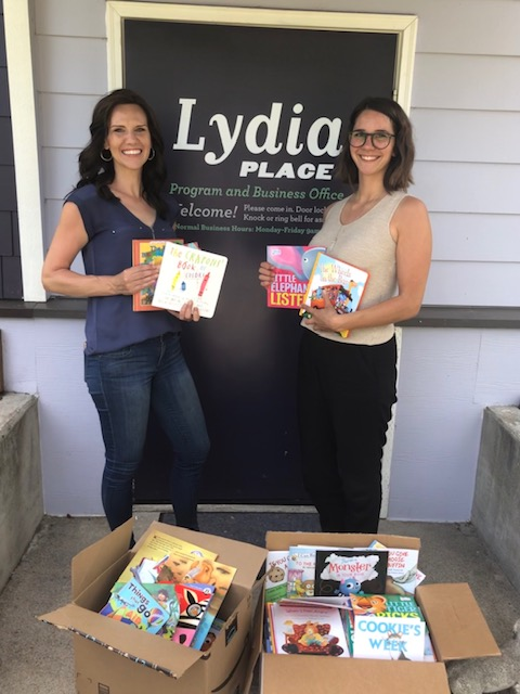 This spring's Women's Bible study ladies donated 2 big boxes of new kids books to Lydia Place, that will go to children in families transitioning out of homelessness during case management home visits.