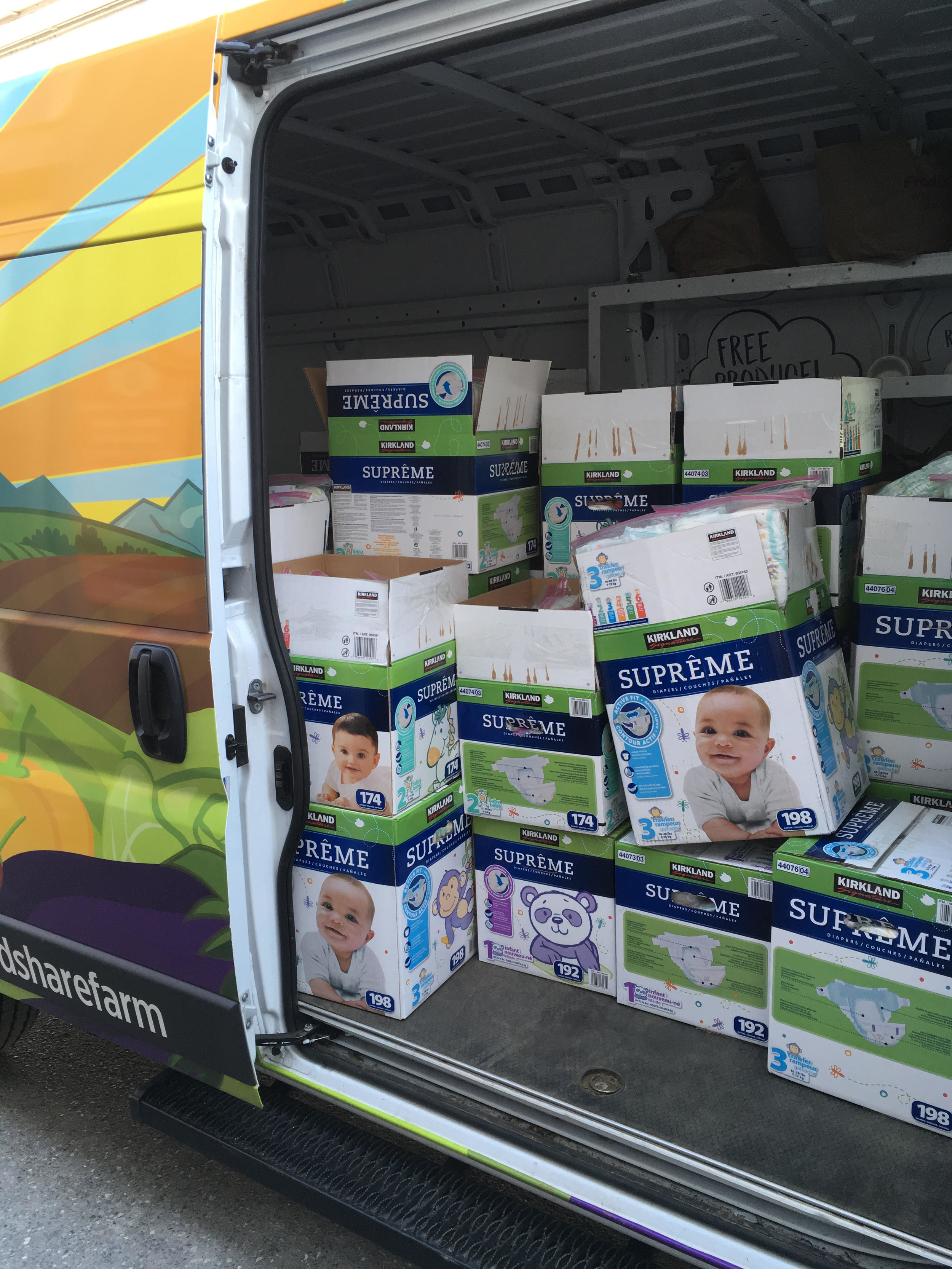 CTK'ers donated 375 packs of diapers that we ended up giving to 12 different school districts, community partners, and government organizations.