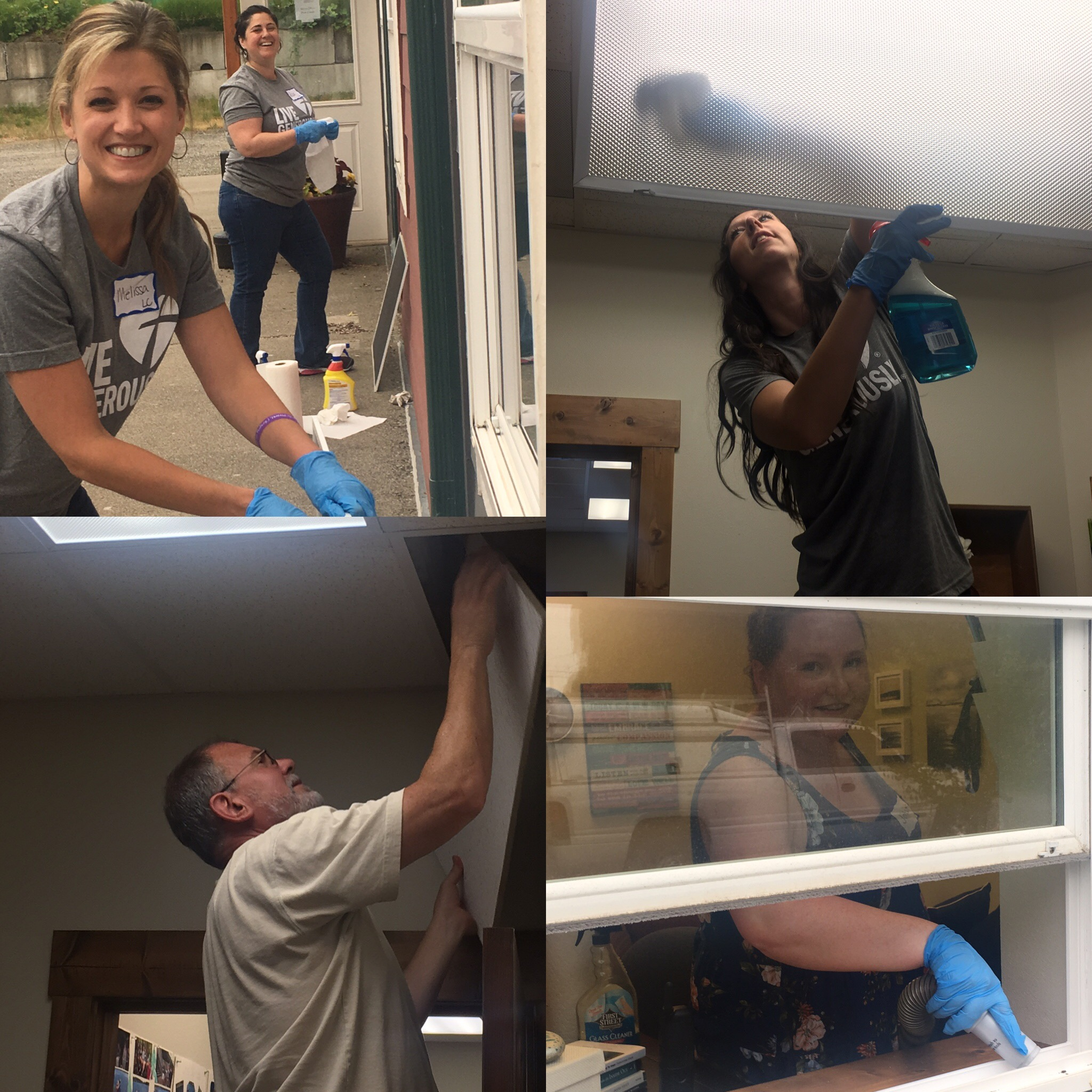 Women's ministry and Engedi staff spent an evening cleaning and weeding at both Engedi Refuge Ministries' properties where women escaping sexual exploitation are staying.