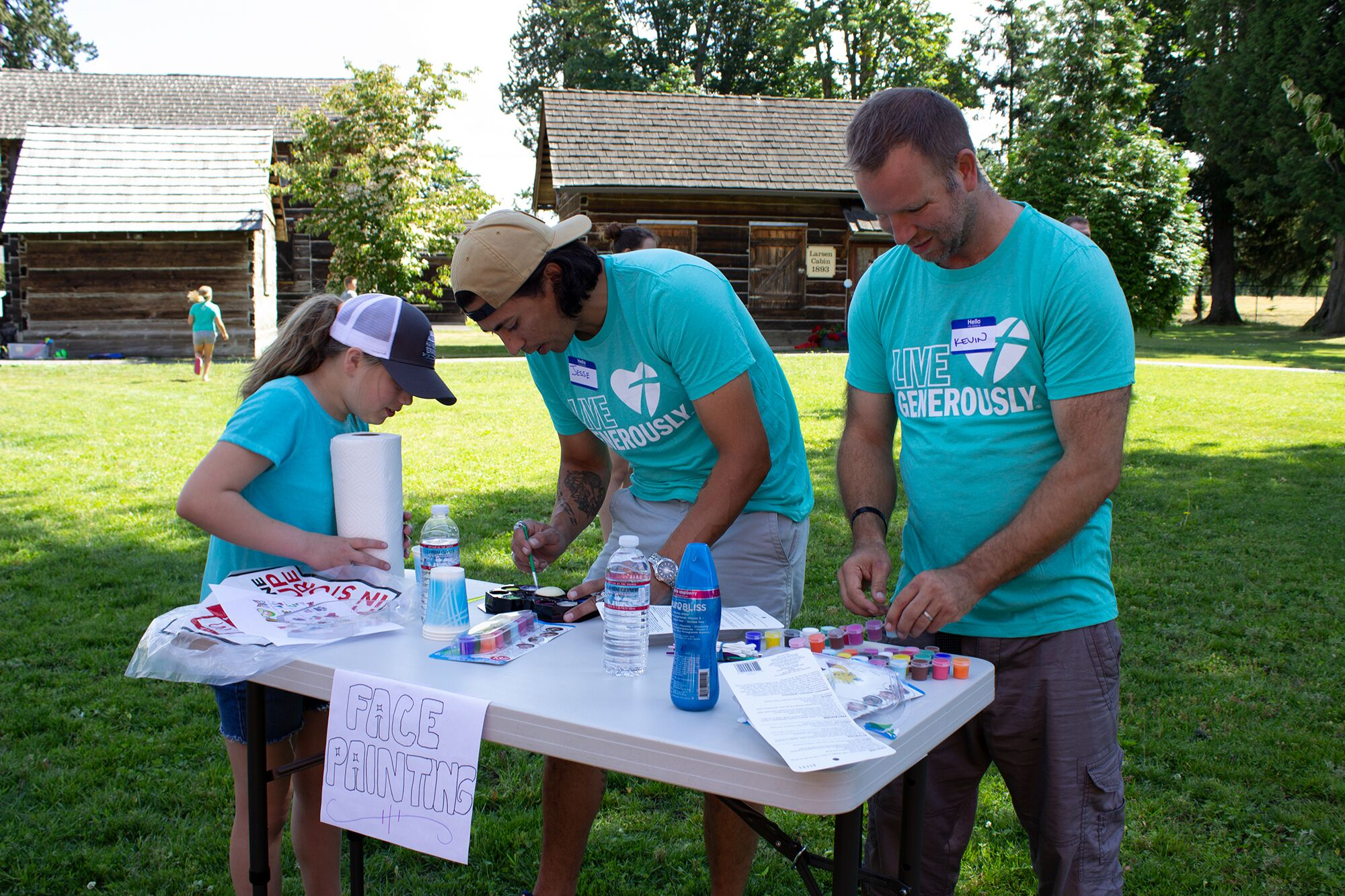 A wonderful group of CTK'ers serve food, played games face painted and helped put on the annual picnic for disabled adults and their families, as well as the Cascade Connections caregivers.