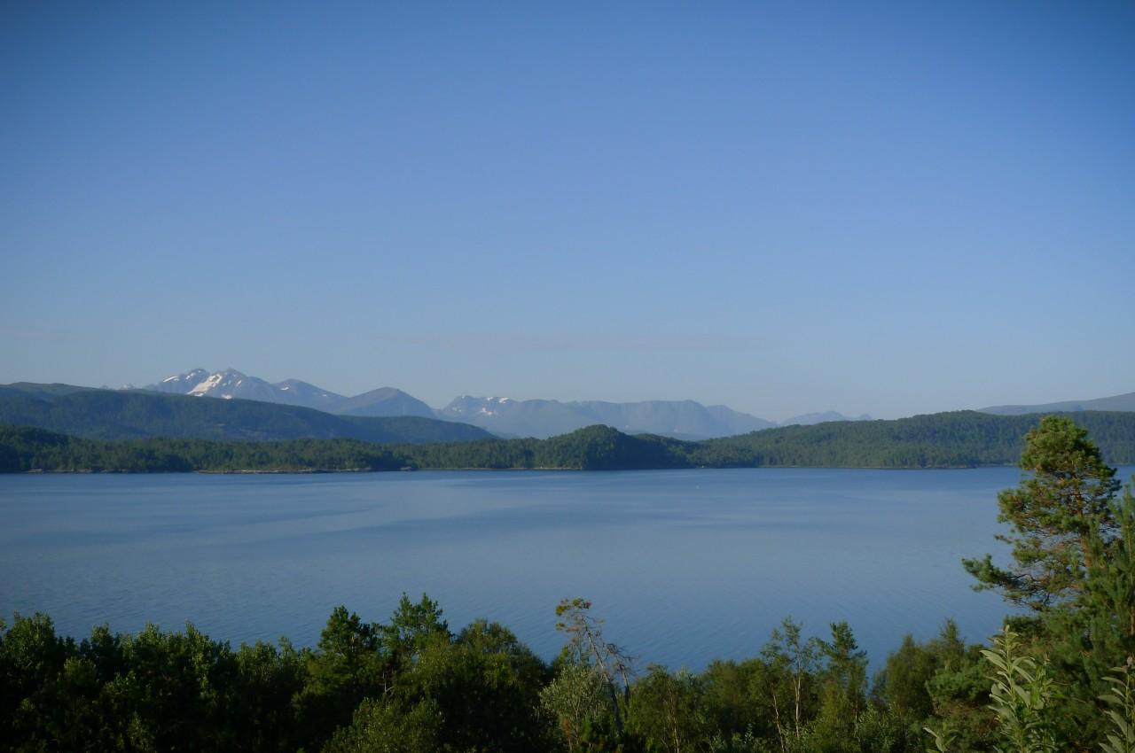 Feltet ligger sydvendt med fantastisk utsikt mot fjord og fjell.