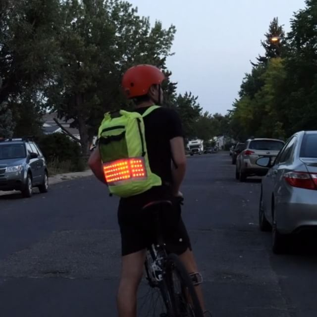 Introducing Firefly: Light Up Backpack  Sign up to get more information about product release information. http://nebula1gear.com/backpacksignup  #firefly #flash #bikecommuting #LED #wearable #tech #oudoors #cycle #bike #ride #safety #visibility #wearable #gear #motorcycle #scooter #cycling #commuting #glow #awareness #comingsoon