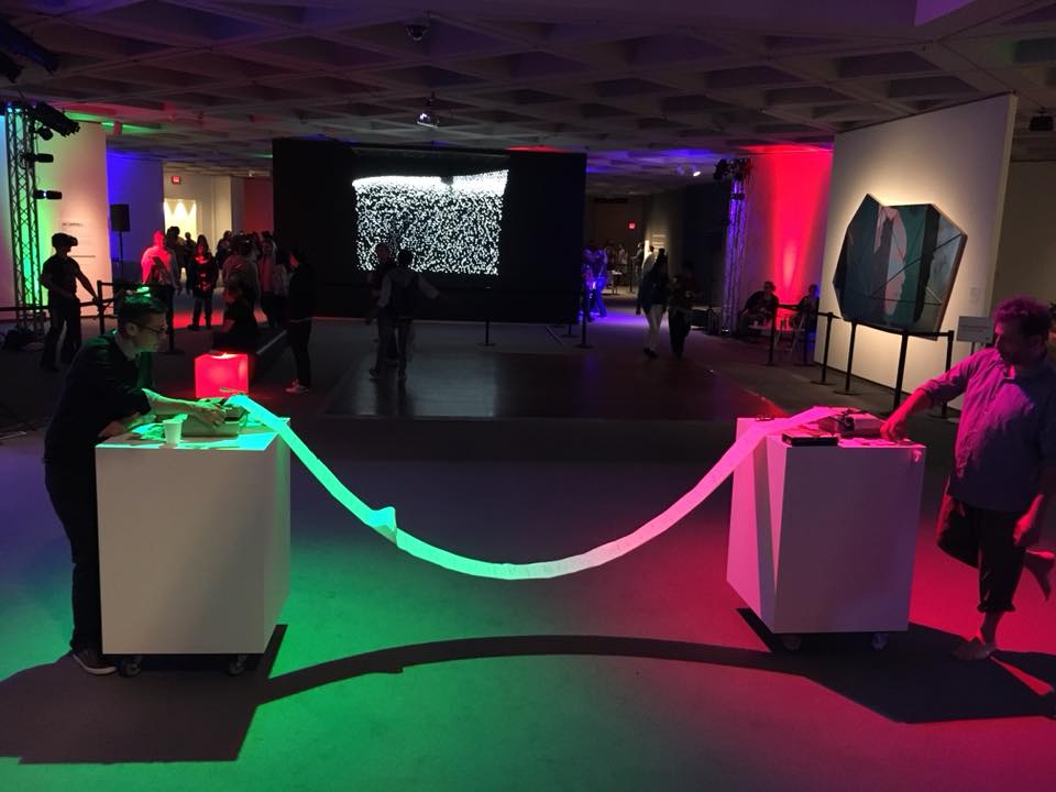 """From a performance of """"TypeFace"""" with Heather Gordon at the North Carolina Museum of Art"""