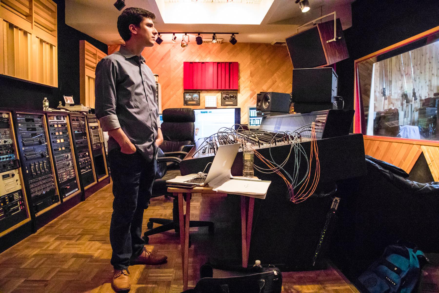 Oberstein in the studio (Photo: David Garten)