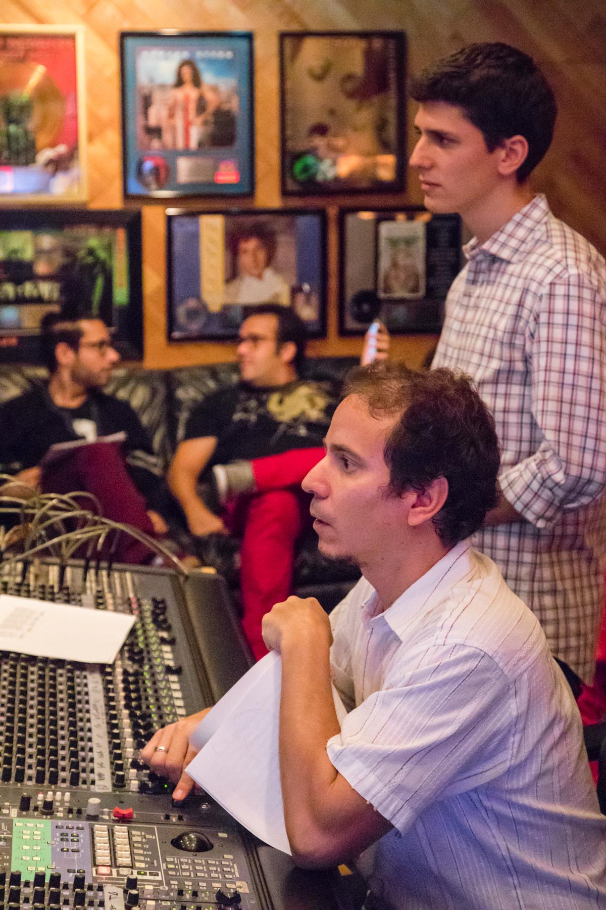 Oberstein in the studio with Dafnis Preito (Photo:David Garten)