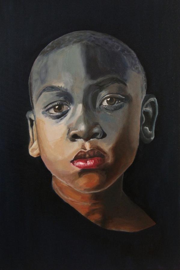 Jenna's First (Oil on canvas, 2016)