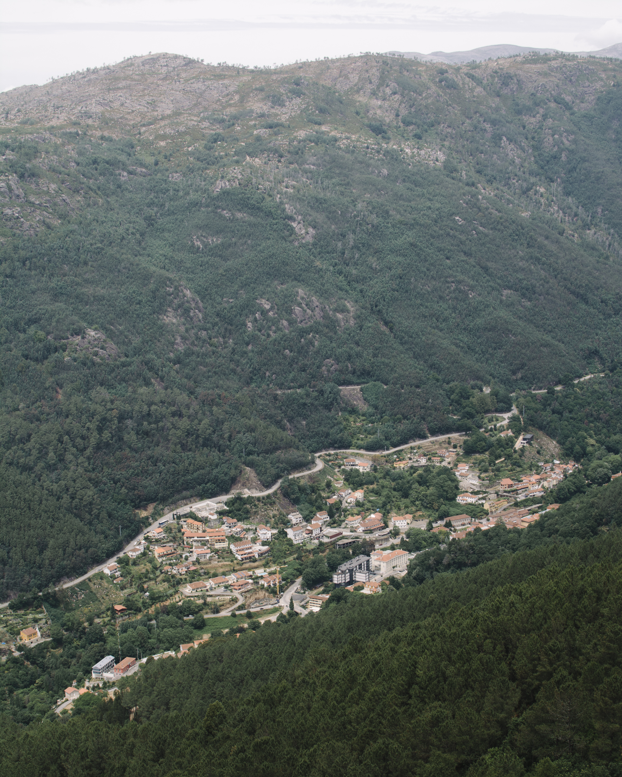 A typical cluster of houses amongst the vastness of the valley.