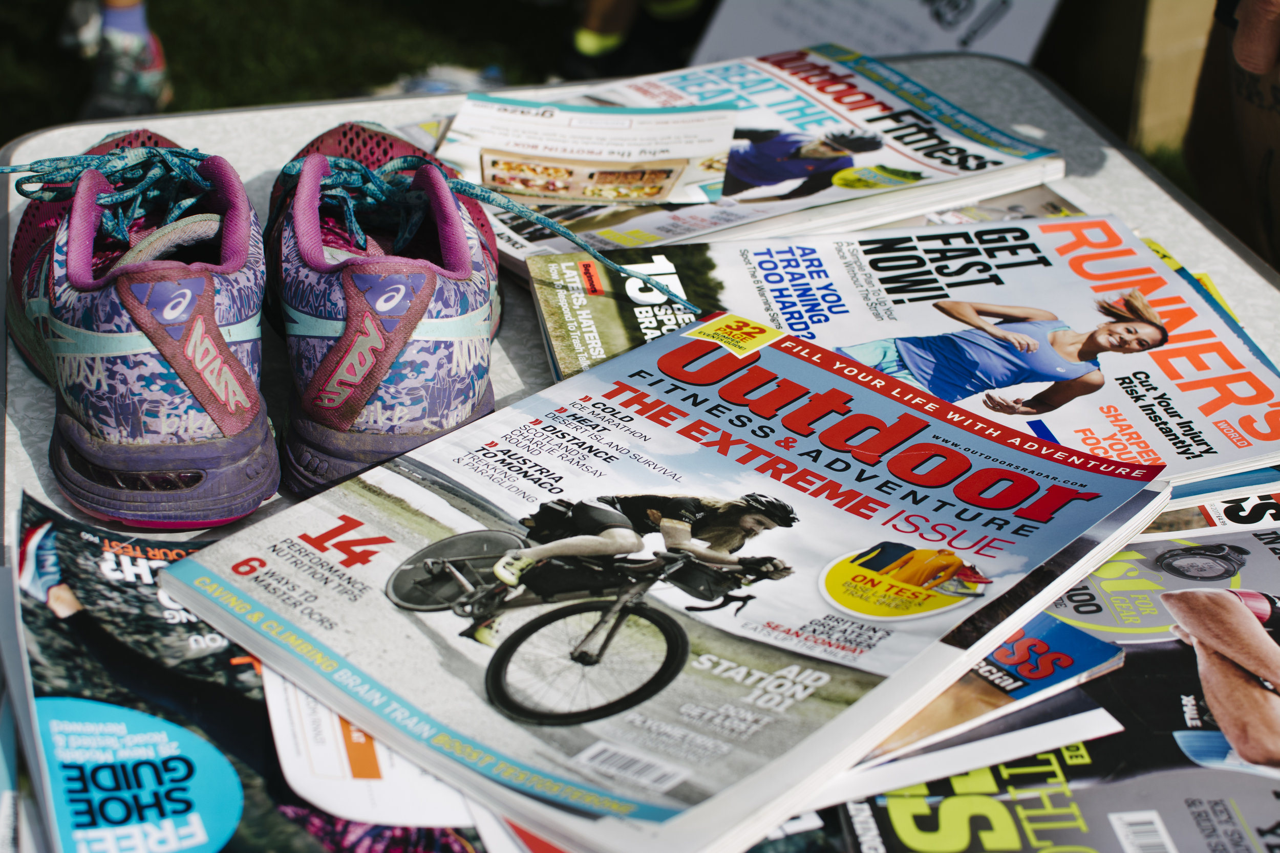 Swap Box also gives away old running and fitness magazines